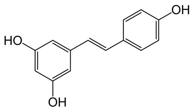 Struktur kimia resveratrol.