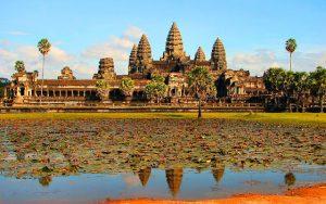 Kompleks candi Angkor Wat.
