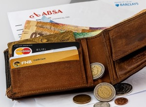 kartu kredit, dompet, uang