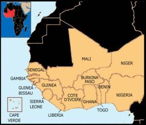 Peta Afrika Barat.