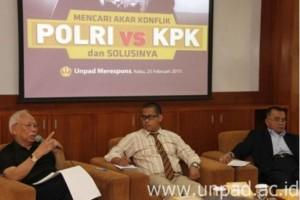 Unpad Merespons Perseteruan KPK dan Polri Dalam Acara Diskusi