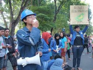 demo, blok mahakam