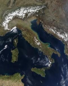citra satelit, italia