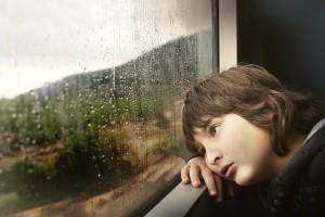 anak, bosan, sendiri, melamun