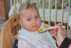 bayi, makan, bubur