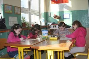 anak, sekolah, menggambar
