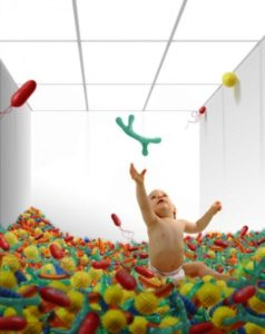 bayi, mikrobioma usus
