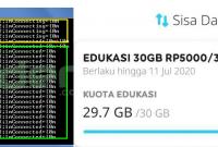Indosat 5k 30GB Menjadi Kuota Reguler di PC