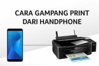 Cara Print Dokumen Dari Android ke Printer
