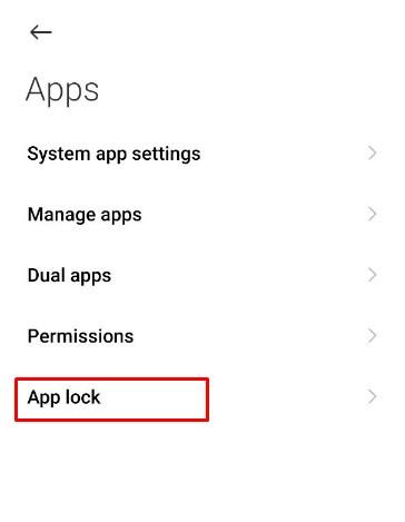 Setting Xiaomi hide apps