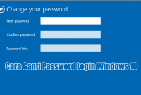 Cara Ganti Password Login Windows 10