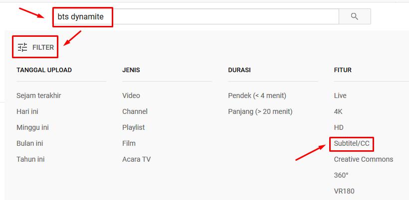 memunculkan subtittle di youtube