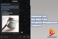 Download Foto dan Video Pada Instagram Menggunakan Telegram