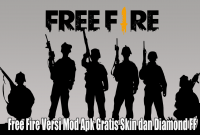 Free Fire Versi Mod Apk Gratis Skin dan Diamond FF